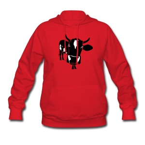 animal t-shirt cow bull ox milk farmer farm country cows dairy beef steak cook bbq - Women's Hoodie