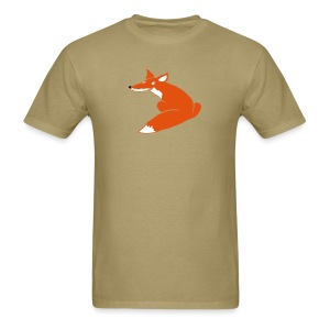 t-shirt fox foxy smart forest animal hunter hunting - Men's T-Shirt