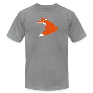 t-shirt fox foxy smart forest animal hunter hunting - Men's T-Shirt by American Apparel