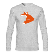 Long Sleeve Shirts ~ Men's Long Sleeve T-Shirt by American Apparel ~ t-shirt fox foxy smart forest animal hunter hunting