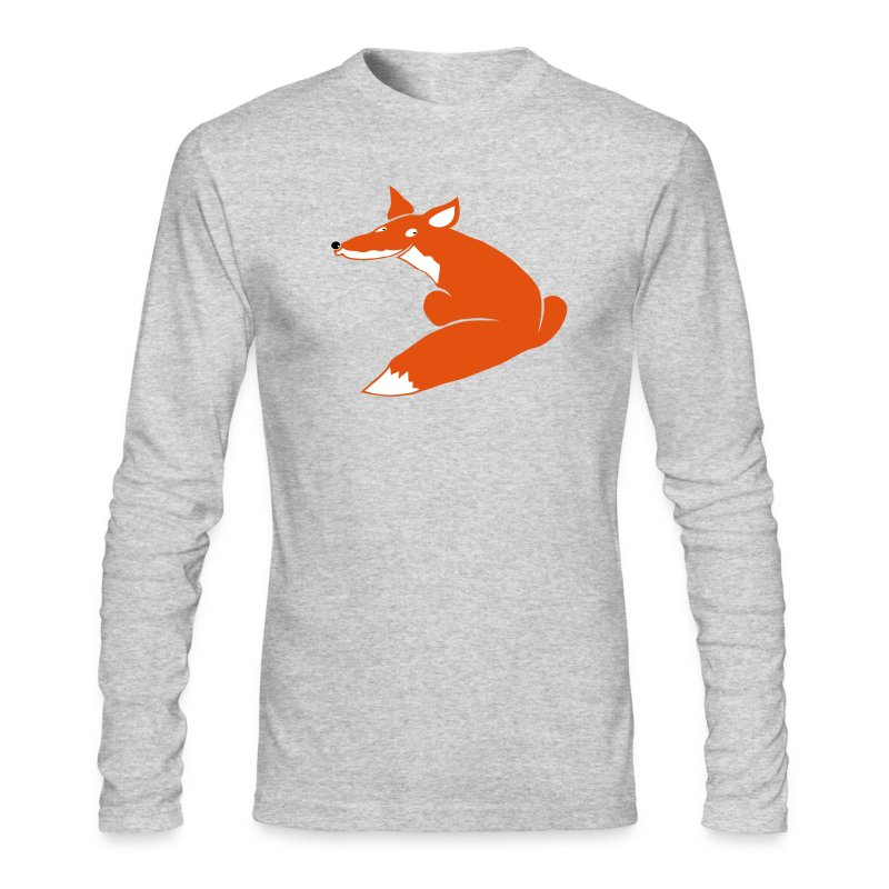 t-shirt fox foxy smart forest animal hunter hunting - Men's Long Sleeve T-Shirt by Next Level