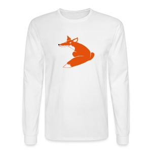 t-shirt fox foxy smart forest animal hunter hunting - Men's Long Sleeve T-Shirt