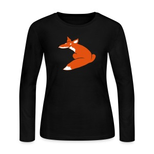 t-shirt fox foxy smart forest animal hunter hunting - Women's Long Sleeve Jersey T-Shirt