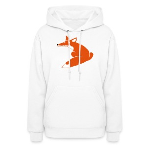 t-shirt fox foxy smart forest animal hunter hunting - Women's Hoodie