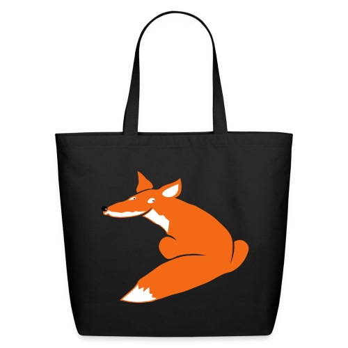 t-shirt fox foxy smart forest animal hunter hunting - Eco-Friendly Cotton Tote