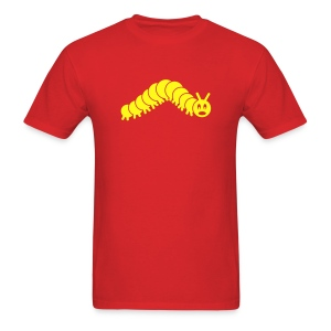 animal t-shirt caterpillar worm snake hungry butterfly magot maggot grub crawler inchworm looper - Men's T-Shirt