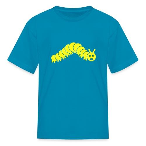 animal t-shirt caterpillar worm snake hungry butterfly magot maggot grub crawler inchworm looper - Kids' T-Shirt