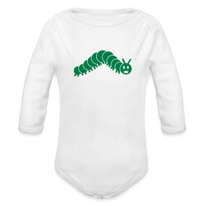 animal t-shirt caterpillar worm snake hungry butterfly magot maggot grub crawler inchworm looper - Long Sleeve Baby Bodysuit