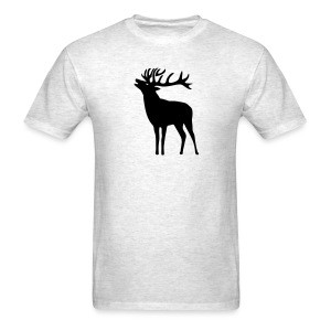 animal t-shirt wild stag deer moose elk antler antlers horn horns cervine hart bachelor party night hunter hunting - Men's T-Shirt