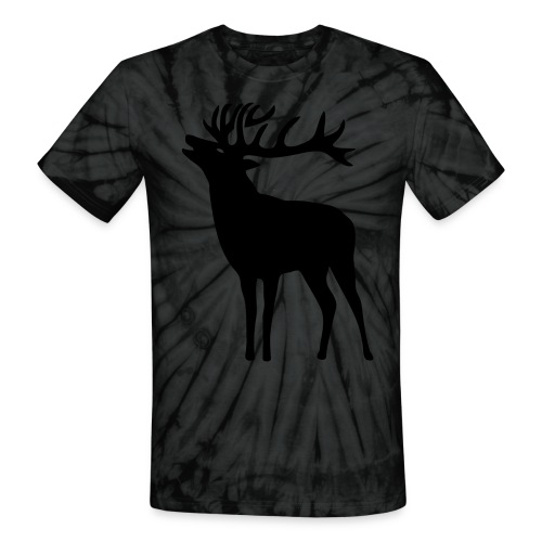 animal t-shirt wild stag deer moose elk antler antlers horn horns cervine hart bachelor party night hunter hunting - Unisex Tie Dye T-Shirt