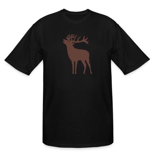 animal t-shirt wild stag deer moose elk antler antlers horn horns cervine hart bachelor party night hunter hunting - Men's Tall T-Shirt