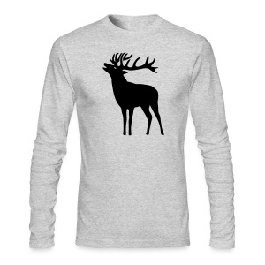 animal t-shirt wild stag deer moose elk antler antlers horn horns cervine hart bachelor party night hunter hunting - Men's Long Sleeve T-Shirt by Next Level