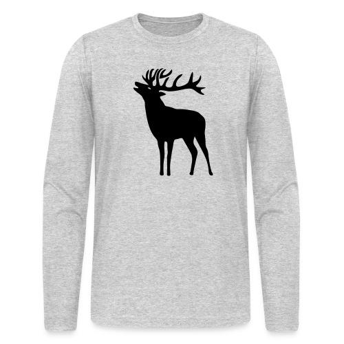 animal t-shirt wild stag deer moose elk antler antlers horn horns cervine hart bachelor party night hunter hunting - Men's Long Sleeve T-Shirt by Next Level
