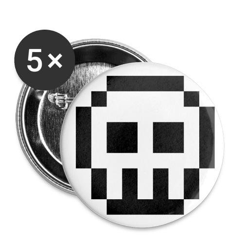 skull pin small - Small Buttons