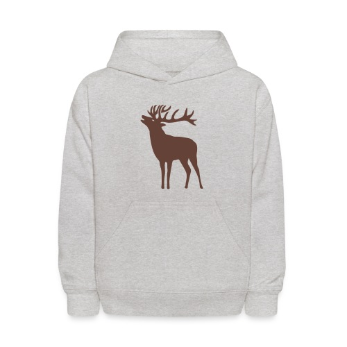 animal t-shirt wild stag deer moose elk antler antlers horn horns cervine hart bachelor party night hunter hunting - Kids' Hoodie