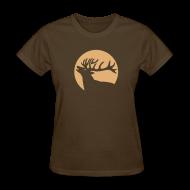 T-Shirts ~ Women's T-Shirt ~ animal t-shirt wild stag deer moose elk antler antlers horn horns cervine hart bachelor party night hunter hunting