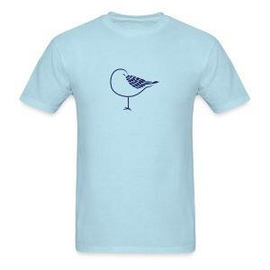 animal t-shirt sleeping bird early dove wings seagull feather sleep - Men's T-Shirt