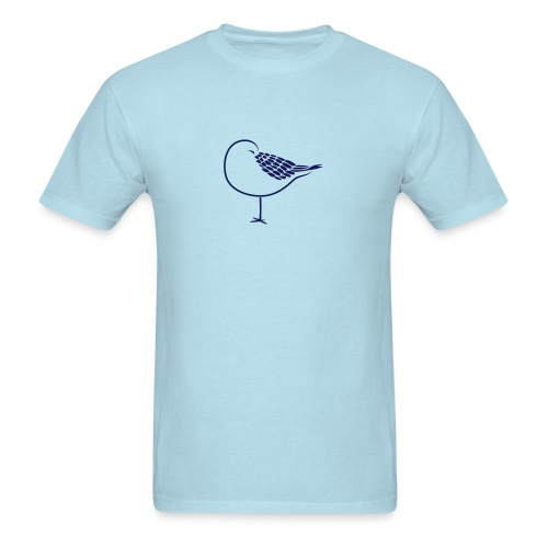 animal t-shirt sleeping bird early dove wings seagull feather sleep - Men's T-Shirt