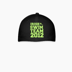 irish swim team year 2012 St Paricks Day design Caps