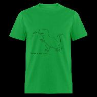 T-Shirts ~ Men's T-Shirt ~ T-Rex Frisbee (Basic Tee)