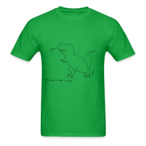T-Rex Frisbee (Basic Tee) - Men's T-Shirt