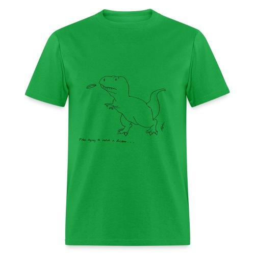 T-Rex Frisbee (Basic Tee) - Men's T-Shirt