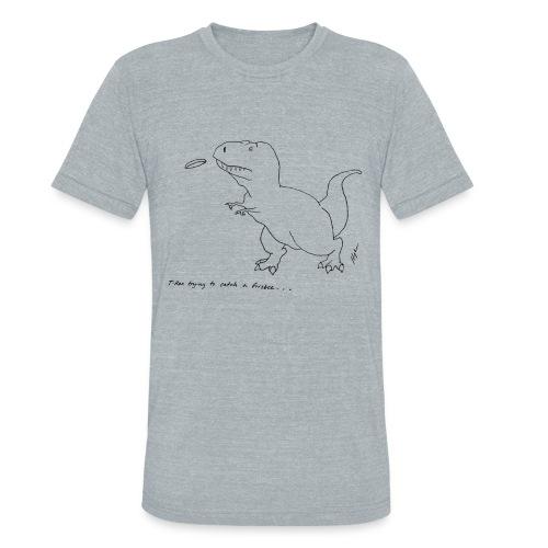 T-Rex Frisbee (Am Apparel) - Unisex Tri-Blend T-Shirt