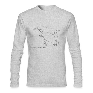 T-Rex Frisbee (Long Sleeve) - Men's Long Sleeve T-Shirt by Next Level
