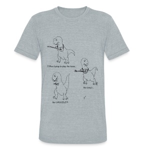 T-Rex Ukulele (Am Apparel) - Unisex Tri-Blend T-Shirt by American Apparel