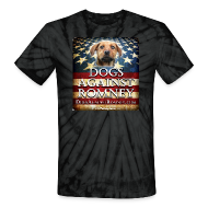 T-Shirts ~ Unisex Tie Dye T-Shirt ~ Official Dogs Against Romney Tie Dye Tee