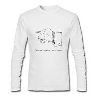 Long Sleeve Shirts ~ Men's Long Sleeve T-Shirt by Next Level ~ T-Rex Vending Machine (Long Sleeve)