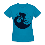 Women's T-Shirts ~ Women's T-Shirt ~ Cycle Yang--Black Glitz