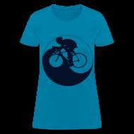 Women's T-Shirts ~ Women's T-Shirt ~ Cycle Yang--Black Glitz