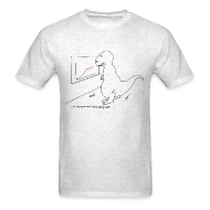 T-Shirts ~ Men's T-Shirt ~ T-Rex Exponential Growth Chart (Basic Tee)