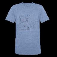 T-Shirts ~ Unisex Tri-Blend T-Shirt ~ T-Rex Exponential Growth Chart (Am Apparel)
