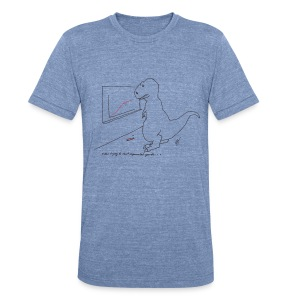 T-Rex Exponential Growth Chart (Am Apparel) - Unisex Tri-Blend T-Shirt by American Apparel