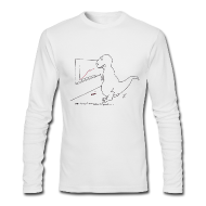 Long Sleeve Shirts ~ Men's Long Sleeve T-Shirt by Next Level ~ T-Rex Exponential Growth Chart (Long Sleeve)