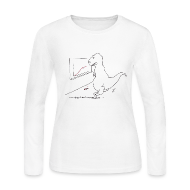 Long Sleeve Shirts ~ Women's Long Sleeve Jersey T-Shirt ~ Ladies T-Rex Exponential Growth Chart (Long Sleeve)