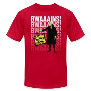 Men's T-Shirt by American Apparel - ZGW wants to eat your BWAAAINS!!! 