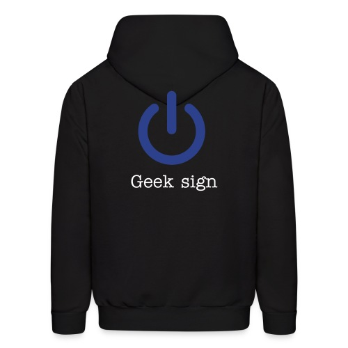 geek sign - Men's Hoodie