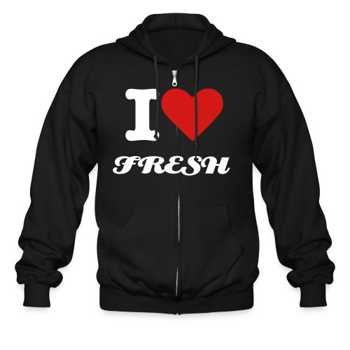 LOVE FRESH - Men's Zip Hoodie