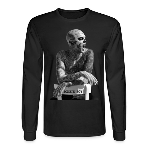 Zombie Boy Chair  - Black Men's long sleeve - Men's Long Sleeve T-Shirt