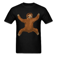 T-Shirts ~ Men's T-Shirt ~ Sloth Love Hug Men's