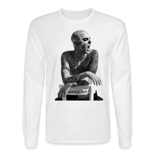 Zombie Boy Chair- White Men's sleeve - Men's Long Sleeve T-Shirt