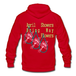 april_showers3 Zip Hoodies/Jackets - Unisex Fleece Zip Hoodie by American Apparel