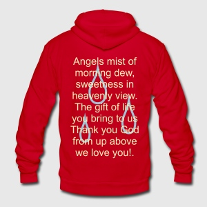 a_thank_you_to_god_for_rain Zip Hoodies/Jackets - Unisex Fleece Zip Hoodie by American Apparel