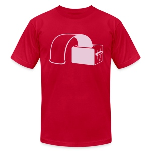 rubber toast - Men's T-Shirt by American Apparel