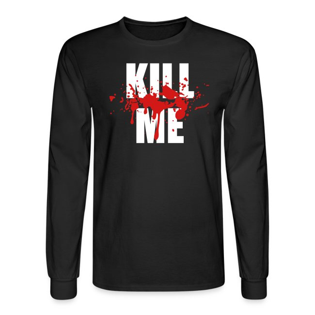Kill Me two color men s long sleeve Black 88bdfdf0537