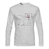 Long Sleeve Shirts ~ Men's Long Sleeve T-Shirt by Next Level ~ T-Rex