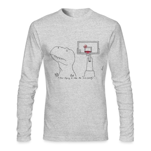 T-Rex LinSanity (Long Sleeve) - Men's Long Sleeve T-Shirt by Next Level